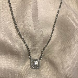 Chloe and Isabel Silver Rhinestone Necklace